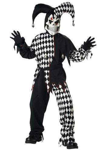Click Here to buy Kids Dark Jester Costume from HalloweenCostumes, CDN Funds & Shipping