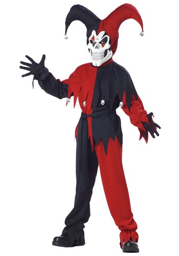 Kids Evil Jester Costume