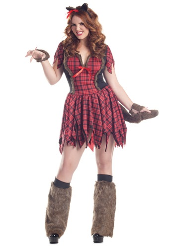 Plus Size Sexy Werewolf Costume | Plaid Dress W/ Ears