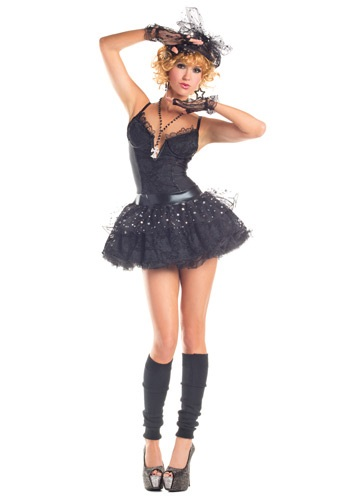 Womens Material Pop Star Costume