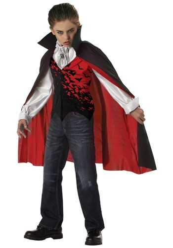 Click Here to buy Kids Dark Vampire Costume from HalloweenCostumes, CDN Funds & Shipping