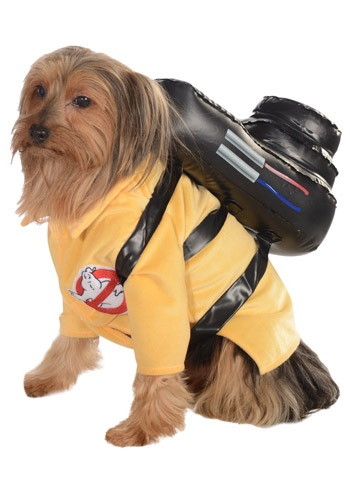 Click Here to buy Ghostbusters Jumpsuit Pet Costume from HalloweenCostumes, CDN Funds & Shipping