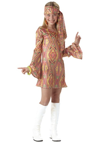 Click Here to buy Kids Disco Girl Costume from HalloweenCostumes, CDN Funds & Shipping
