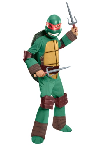 Click Here to buy Deluxe Kids Raphael Costume from HalloweenCostumes, CDN Funds & Shipping