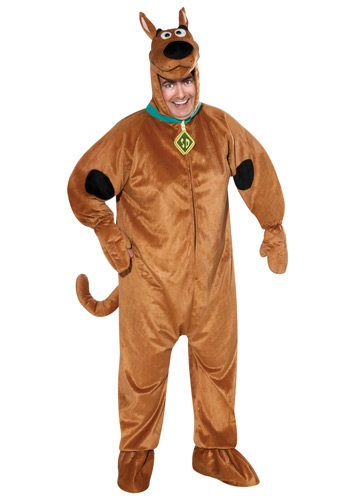 Click Here to buy Plus Size Adult Scooby Doo Costume | Mystery Inc Costume from HalloweenCostumes, CDN Funds & Shipping