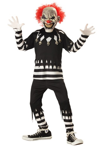 Click Here to buy Kids Psycho Clown Costume from HalloweenCostumes, CDN Funds & Shipping