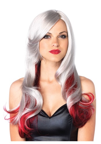 Click Here to buy Red and Gray Two Toned Wig from HalloweenCostumes, CDN Funds & Shipping