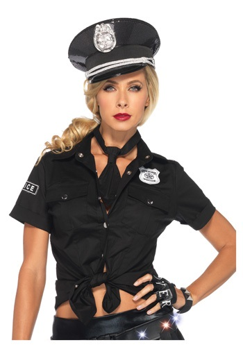 Click Here to buy Womens Police Shirt & Tie from HalloweenCostumes, CDN Funds & Shipping