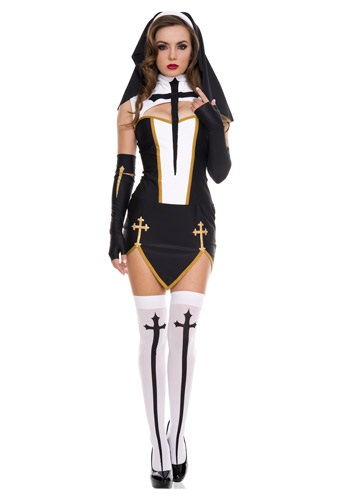 Click Here to buy Bad Habit Nun Costume from HalloweenCostumes, CDN Funds & Shipping