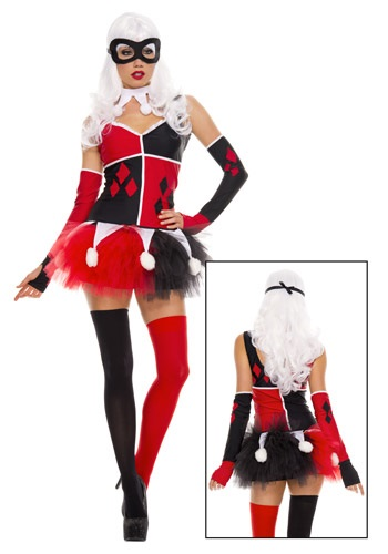 Click Here to buy Womens Harley Jester Costume from HalloweenCostumes, CDN Funds & Shipping