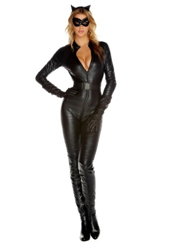 Click Here to buy Fierce Feline Costume | Sexy Cat Costume | Cat Jumpsuit from HalloweenCostumes, CDN Funds & Shipping