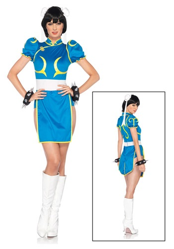 Click Here to buy Chun-Li Costume from HalloweenCostumes, CDN Funds & Shipping