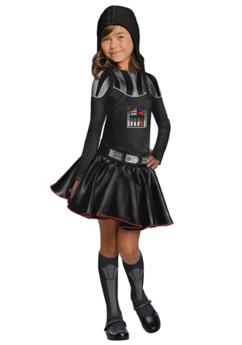 Click Here to buy Darth Vader Girls Dress Costume from HalloweenCostumes, CDN Funds & Shipping