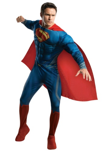 Click Here to buy Superman Man of Steel Adult Deluxe Costume from HalloweenCostumes, CDN Funds