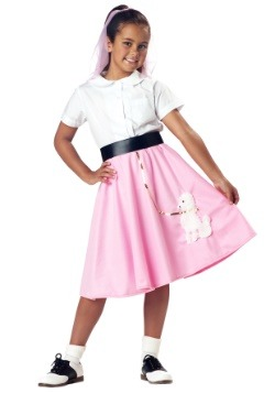 Kids Pink Poodle Skirt