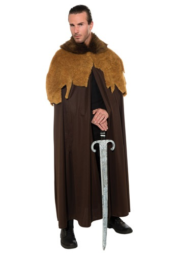 Mens Medieval Warrior Cloak Costume