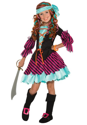 Click Here to buy Salty Taffy Girls Pirate Costume from HalloweenCostumes, CDN Funds & Shipping