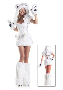 8 pc Deluxe Polar Bear Costume