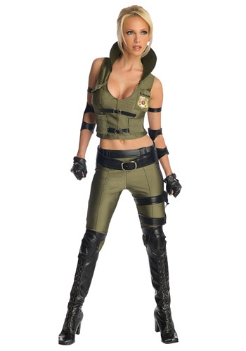 Click Here to buy Mortal Kombat Deluxe Sonya Blade Costume from HalloweenCostumes, CDN Funds & Shipping