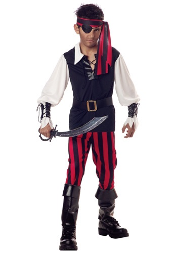 Click Here to buy Kids Cutthroat Pirate Costume from HalloweenCostumes, CDN Funds & Shipping