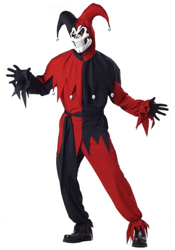 Click Here to buy Adult Evil Jester Costume from HalloweenCostumes, CDN Funds & Shipping