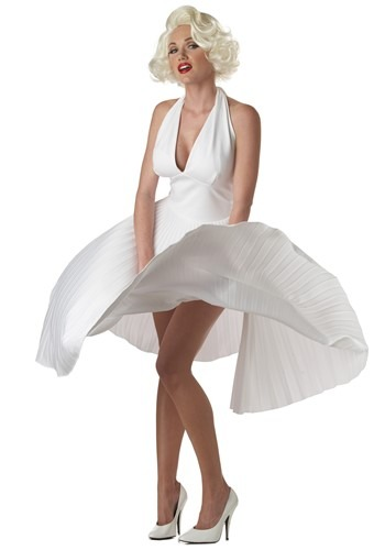 Click Here to buy Marilyn Monroe Deluxe White Dress Costume from HalloweenCostumes, CDN Funds & Shipping