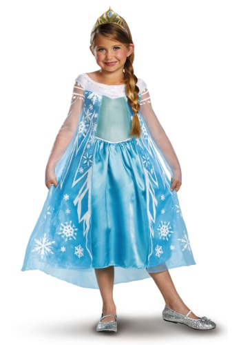 Click Here to buy Elsa Deluxe Frozen Costume from HalloweenCostumes, CDN Funds & Shipping
