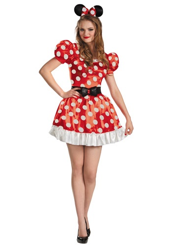 Click Here to buy Red Minnie Classic Adult Costume from HalloweenCostumes, CDN Funds & Shipping