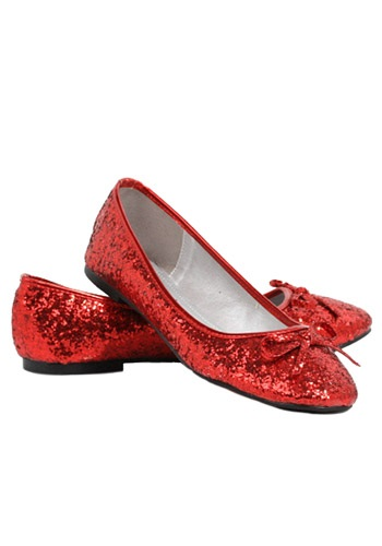 Click Here to buy Womens Red Glitter Flats | Red Sparkly Shoes | Womens Shoes from HalloweenCostumes, CDN Funds & Shipping