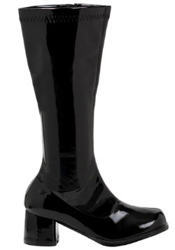 Girls Black Gogo Boots