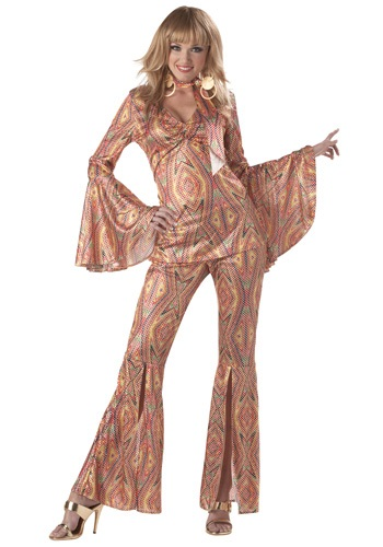 Click Here to buy Womens 1970s Disco Costume from HalloweenCostumes, CDN Funds & Shipping
