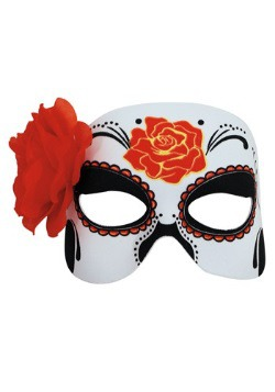 Womens Day of the Dead Half Mask