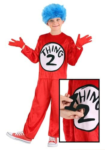 Click Here to buy Thing 1 & Thing 2 Kids Costume from HalloweenCostumes, CDN Funds & Shipping
