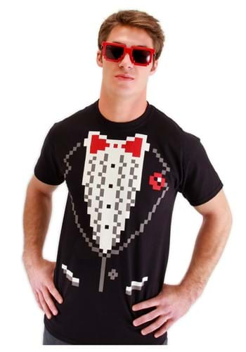 Adult Pixel 8 Tuxedo Shirt