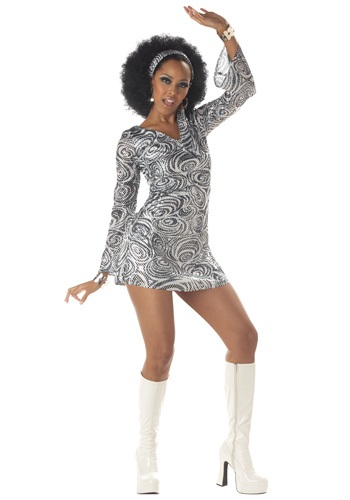 Click Here to buy Sexy Disco Diva Dress Costume from HalloweenCostumes, CDN Funds & Shipping
