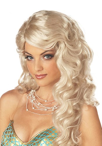 Click Here to buy Mermaid Blonde Wig from HalloweenCostumes, CDN Funds & Shipping