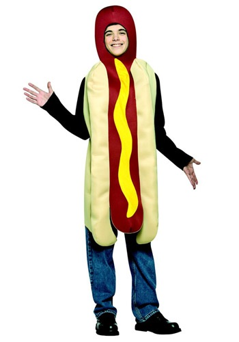 Click Here to buy Teen Hot Dog Costume from HalloweenCostumes, CDN Funds & Shipping