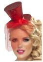 Fever Red Glitter Mini Top Hat