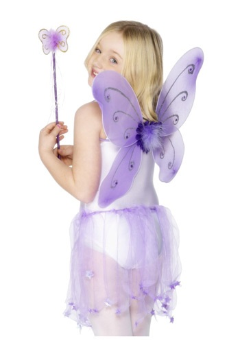 Child Purple Butterfly Wings Kit
