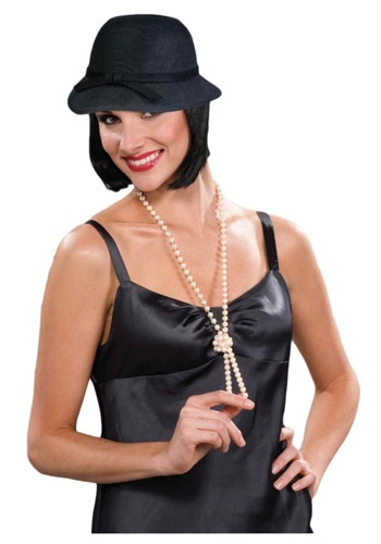 Click Here to buy Black Flapper Hat from HalloweenCostumes, CDN Funds & Shipping