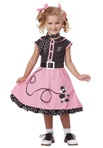Click Here to buy Toddler 50s Poodle Cutie Costume from HalloweenCostumes, CDN Funds & Shipping