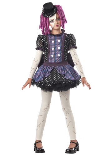 Click Here to buy Girls Broken Doll Costume from HalloweenCostumes, CDN Funds & Shipping