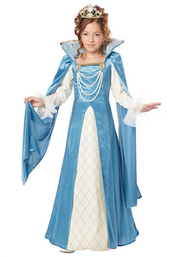 Click Here to buy Girls Renaissance Queen Costume from HalloweenCostumes, CDN Funds & Shipping
