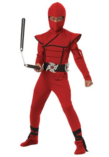 Boys Red Stealth Ninja Costume