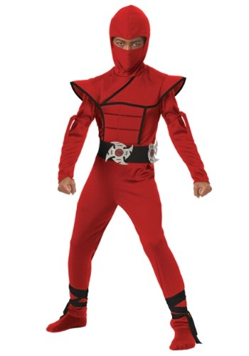 Click Here to buy Boys Red Stealth Ninja Costume from HalloweenCostumes, CDN Funds & Shipping