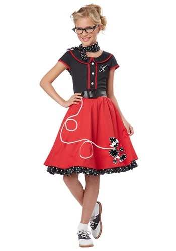 Girls Red 50's Sweetheart Costume