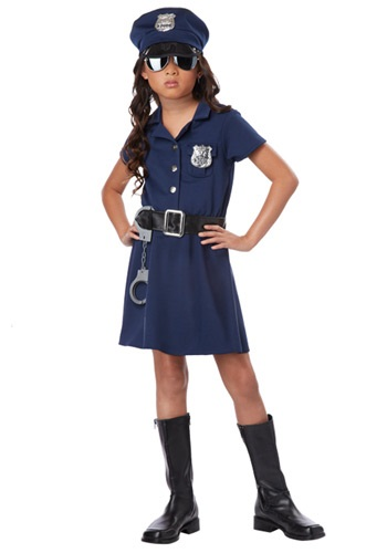 Click Here to buy Girls Police Officer Costume from HalloweenCostumes, CDN Funds & Shipping
