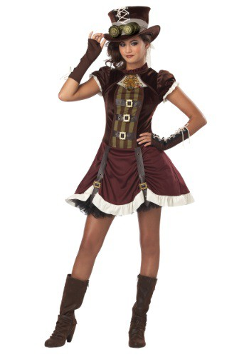 Click Here to buy Tween Steampunk Girl Costume | Unique Halloween Costumes from HalloweenCostumes, CDN Funds & Shipping