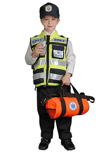 Click Here to buy EMT Kidsrens Vest Costume from HalloweenCostumes, CDN Funds & Shipping