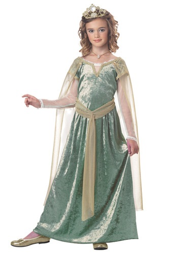 Girls Queen Guinevere Costume